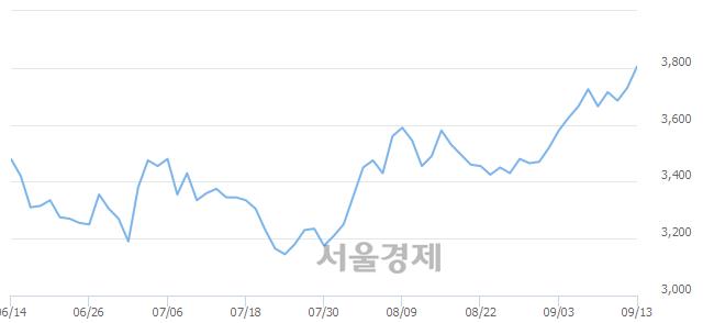 유태림포장, 3.08% 오르며 체결강도 강세 지속(397%)