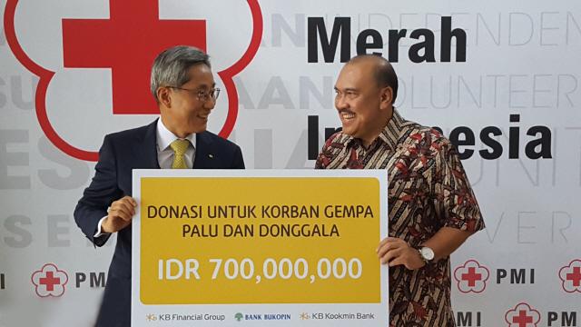KB금융, 인도네시아 적십자사에 재난구호 성금 전달