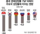 [中 경제 적신호 켜졌나…韓경제에 미치는 영향은] 中 성장률 1%P 꺾이면 韓은 0.5%P '마이너스'