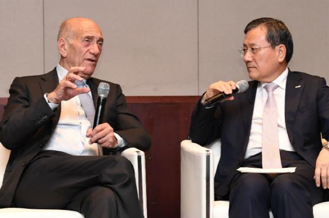 [ABF in Seoul] Olmert advises Korean industry to prepare for future