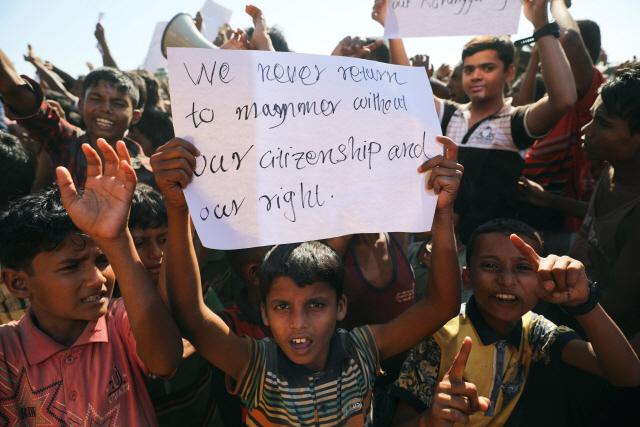 [사진으로 보는 세계] 로힝야족 '우린 돌아가지 않는다'