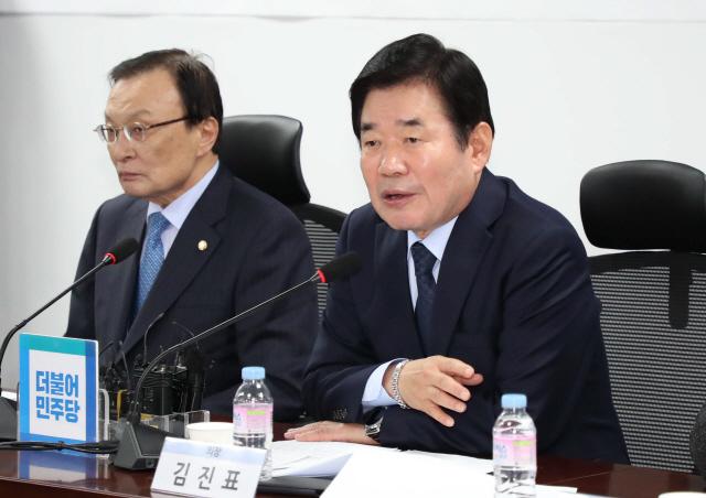 김진표 '이재명 탈당, 본인이 판단할 문제…당 분열 막아야'