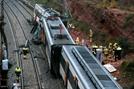 스페인서 산사태 열차 덮쳐 탈선...1명 사망, 44명 부상