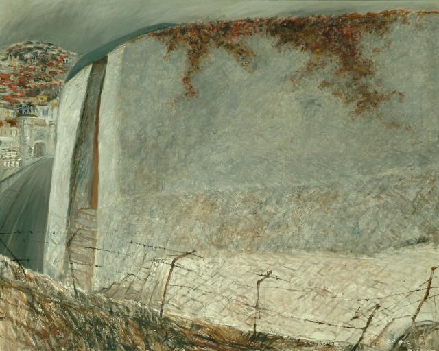 [조상인의 예(藝)-88손상기 '공작도시-독립문 밖에서']담벼락에 매달린 덩굴꽃...붓끝에 담은 희망