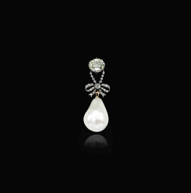 [머니+ 윤옥영의 해외경매 이야기] 마리 앙투아네트의 천연진주·다이아몬드 펜던트