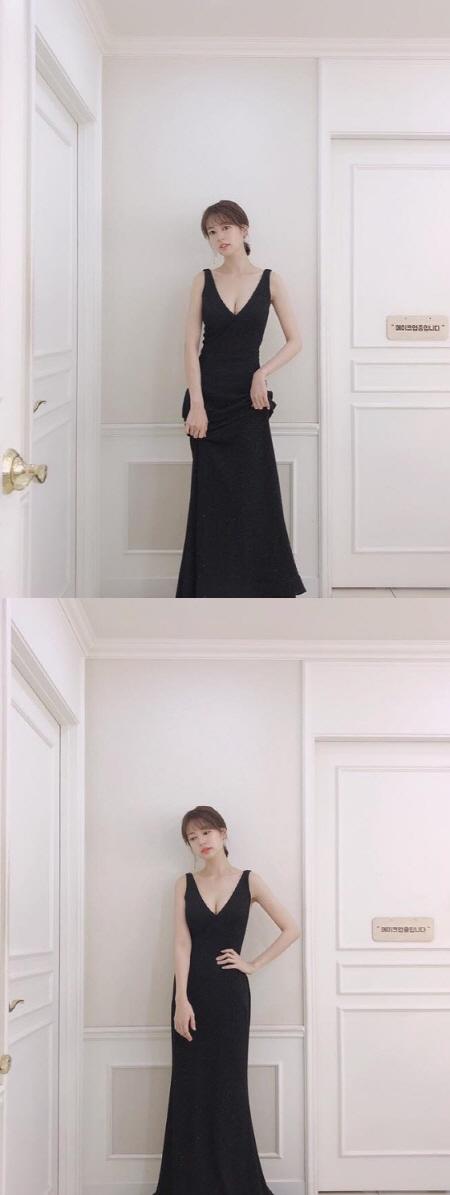 정소민, 검은 드레스에 숨겨왔던 볼륨 몸매 공개