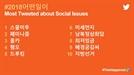 트위터 올해 최다 언급 단어 '스쿨미투'