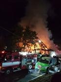 의정부 모델하우스 화재로 250여가구 정전…큰불 잡고 잔불 정리 중