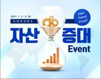 [머니+ 베스트컬렉션]미래에셋대우 'New Trend 펀드 자산증대 이벤트'