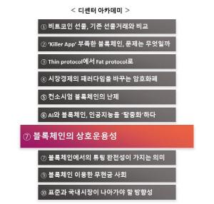[디센터 아카데미(3부)]⑦블록체인의 상호운용성