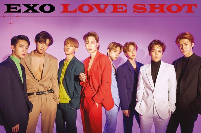 엑소, 정규 5집 리패키지 'LOVE SHOT' 12월 월간 앨범 차트 1위