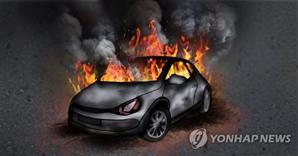인천서 주행 중인 태권도학원 차량서 화재…인명피해 없어