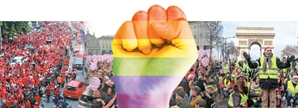 [글로벌What-전세계로 퍼지는 '컬러 시위']반정부·총기반대·여성인권...색깔로 외치다