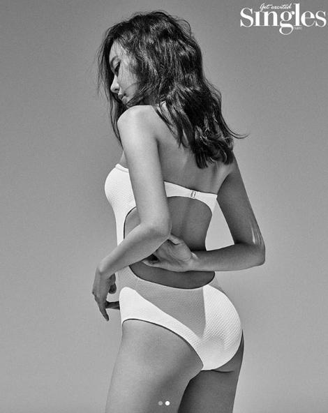김아중 섹시 화보, 등 노출 제대로? 아찔 하얀색 수영복 입고 완벽 몸매 자랑