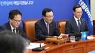 민주, 평화 분위기 띄우고 김경수 지키고…한국당엔 매서운 비난