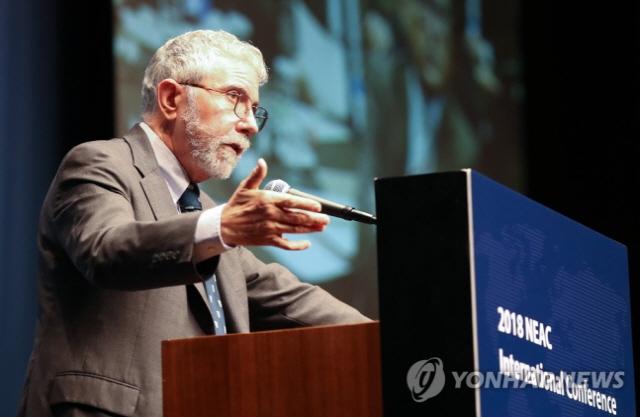 크루그먼 '올해 말 글로벌 경기침체 가능성…유로존 가장 우려'