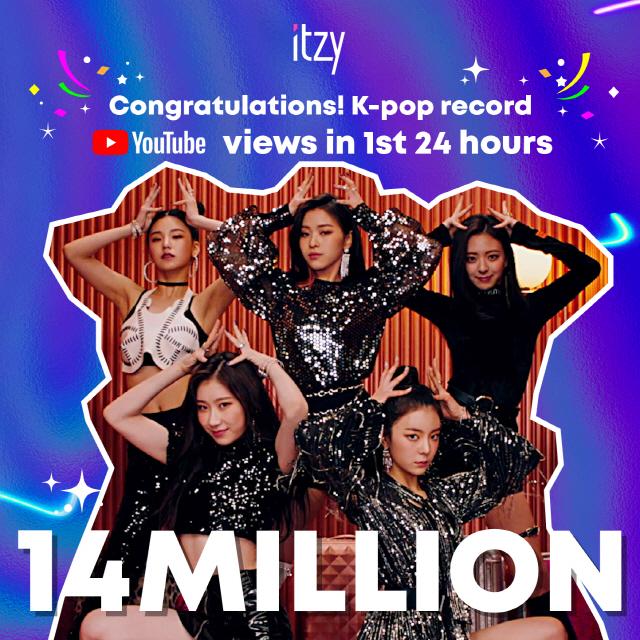 ITZY(있지) 데뷔곡 '달라달라' MV 공개 하루만에 1400만뷰 돌파 '역대급' 기록