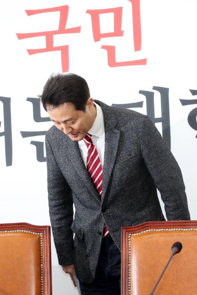 오세훈 '당 역주행 막고 미래로'…보이콧 접고 당대표 출마