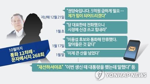 '권양숙 사칭 사기범' 아들, 취업비리 수사중 사립학교 재취업