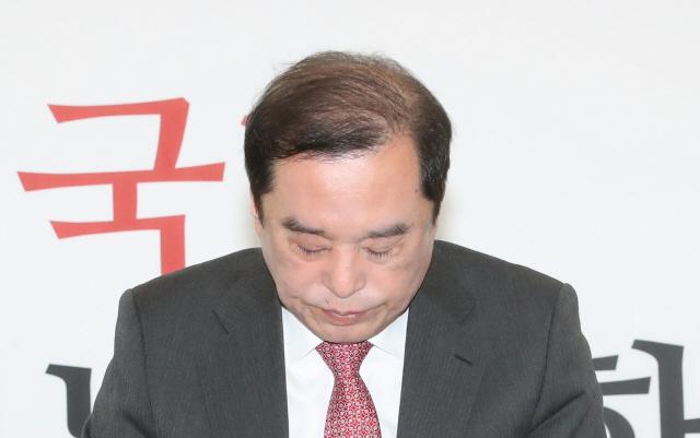 결국 고개숙인 한국당...5·18 모독 의원 당윤리위 회부
