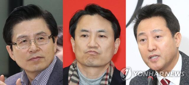 한국당 2·27 전당대회 기호 확정…1번 황교안·2번 오세훈·3번 김진태