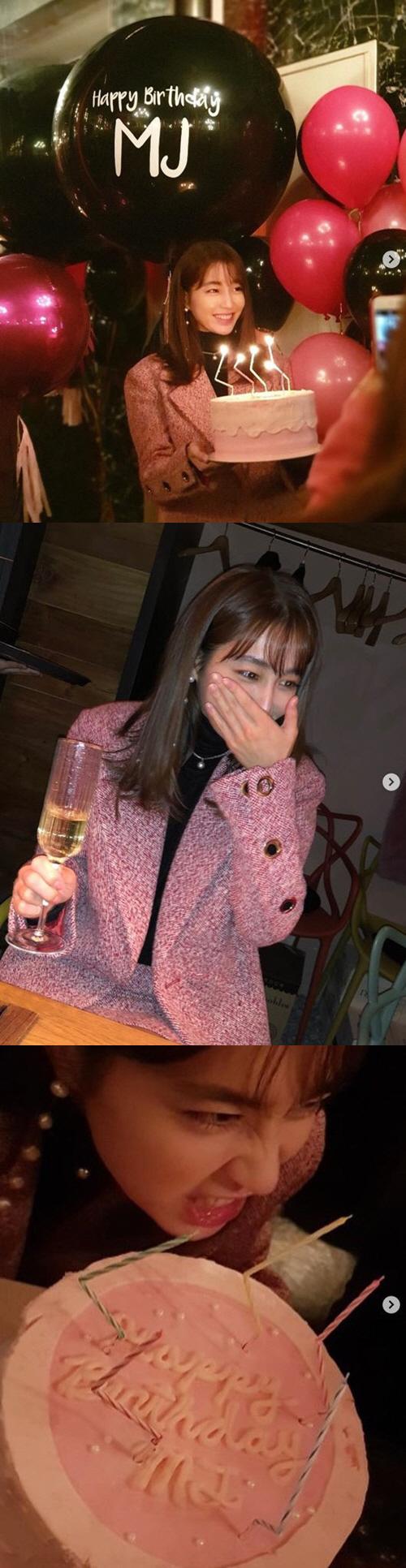 '이병헌♥' 이민정 '미리 생일 파티..고마워 칭구들아' 빛나는 미모