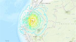 """에콰도르서 규모 7.5 강진…""""전국에서 진동 느껴져"""""""