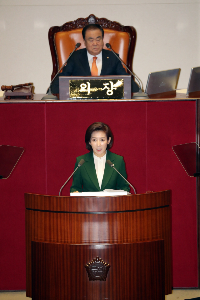 나경원 '선거제 패스트트랙, 좌파법안 통과 위한 여당의 미끼'