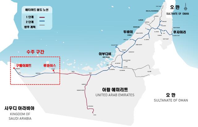 SK건설, 4,800억원 규모 UAE 에티하드 철도공사 수주