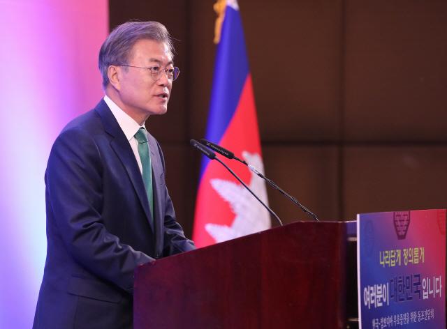 文, 오늘 캄보디아 훈센 총리와 정상회담…농업·인프라 건설협력 논의