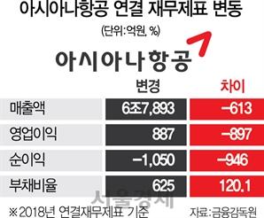 아시아나 과도한 항공기 '리스 경영'에 발목...'부채 돌려막기'로 재무구조도 악화
