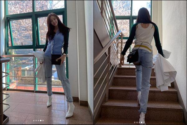 앞에서도, 뒤에서도 '쭉 뻗은 S라인 섹시 몸매' 효민, 봄처녀 매력발산