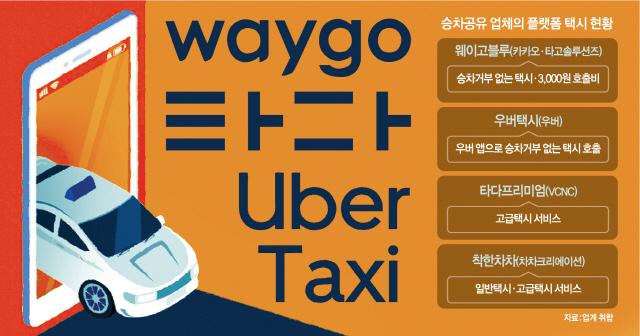 카카오 VS 우버 VS 타다...택시도 골라타는 시대