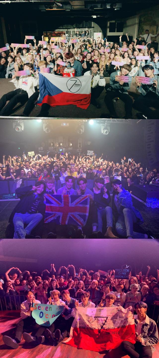 세븐어클락, 유럽투어 순항…7개국 중 '체코 · 영국· 폴란드' 성료