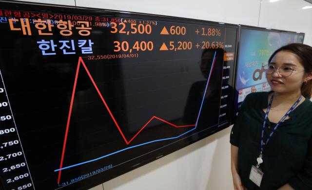 '조양호 회장 별세' 한진그룹株 이틀째 강세… 지배 구조 개편 기대 심리 반영됐나