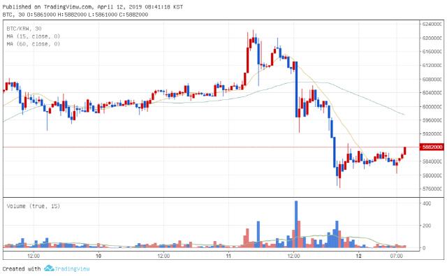 [아침시황]주요 암호화폐 가격 동반 하락…라이트코인·비트코인캐시·트론 10%대 급락