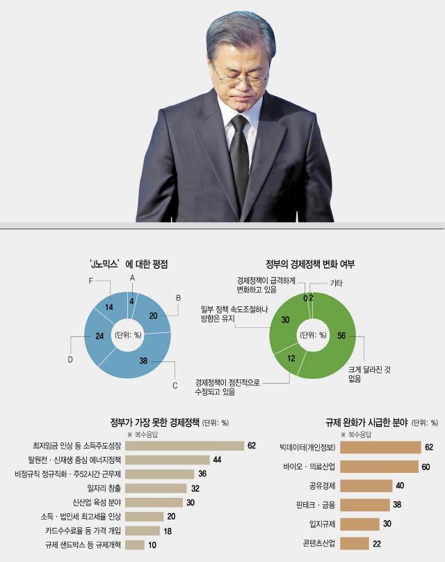 [文정부2년 설문]'소주성은 역효과, 혁신성장은 답보…J노믹스 낙제점' 76%