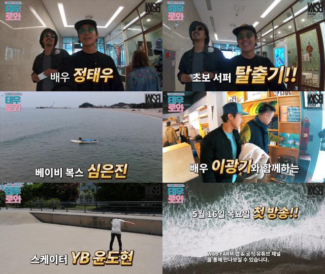 정태우, 서핑 전문 웹예능 '태우로와'..서핑에 대한 '무한 애정' 발산