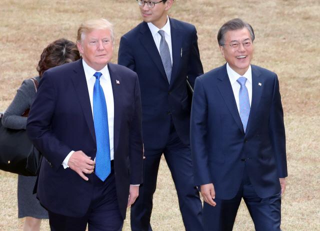 트럼프, 취임 후 두 번째 다음달 방한...北 미사일 언급 주목