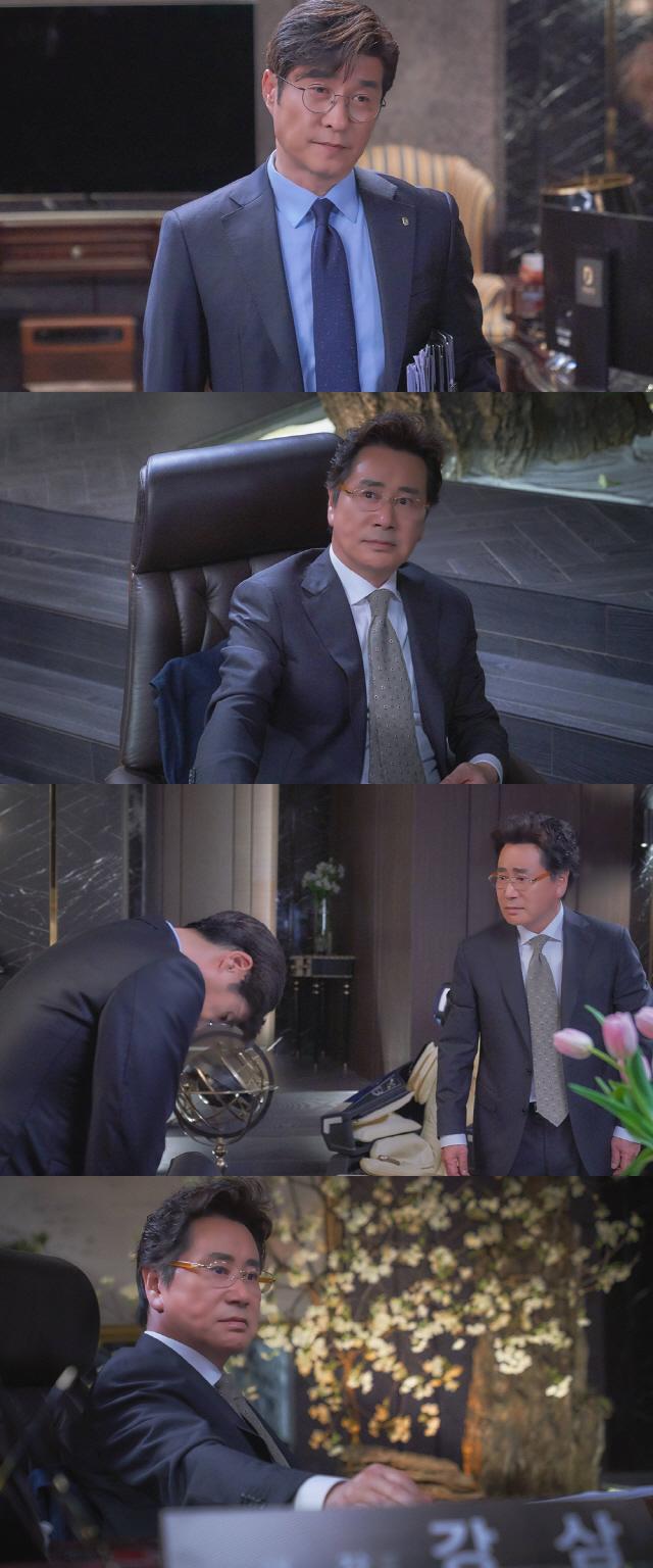 오늘 종영 '더 뱅커' 감사 김상중 VS 은행장 유동근, 최후의 담판 포착