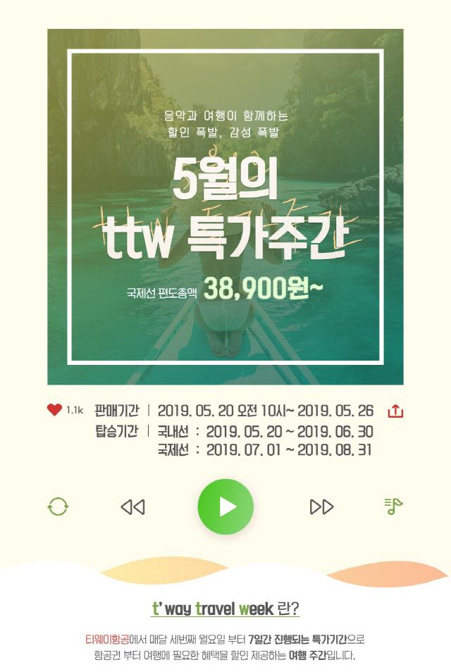 [종합] '제주항공권 1만원'…티웨이 ttw 특가주간 접속마비까지