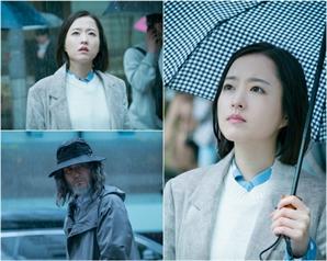 '어비스' 박보영-이성재, 폭우 속 눈맞춤..노인 이성재 알아볼까?
