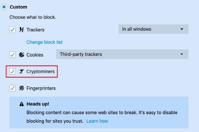 파이어폭스, 불법 암호화폐 채굴 막는 옵션 추가했다