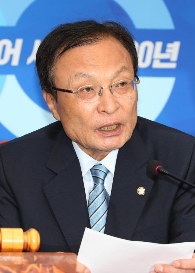 """이해찬 """"한국당, 강효상 불법행위 사과하고 적절 조치해야"""""""