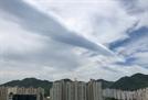 """대구 하늘 수놓은 두루마리 구름 관심 집중…""""이렇게 예쁜 구름은 처음""""(종합)"""