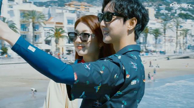 김진경♥크루셜스타, 4월 디스커버리 원정대로 스페인 여행..다정한 투샷