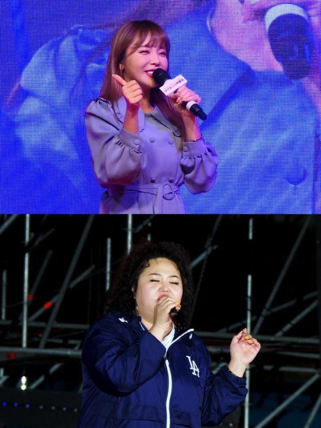 '미우새' 홍진영 언니 '홍선영', 6천명 관객 앞에서  국내 첫 라이브 무대?