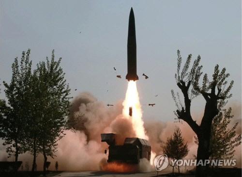 '北 단거리 탄도미사일 실험은 고체연료 개량 목적'