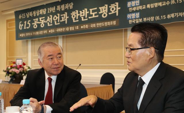 문정인 '6월중 문재인·김정은 만나야'