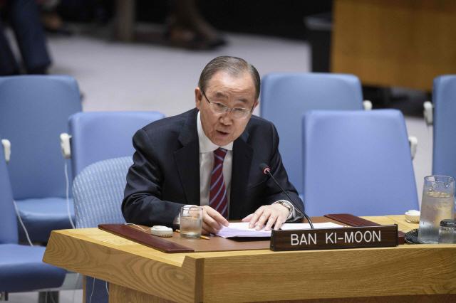 반기문, 안보리서 '교착상태 빠진 대북 협상, 조속 재개 희망'